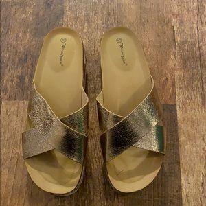 Nature Breeze Rose gold strap sandal size 10